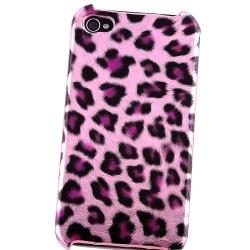 Purple Leopard/ Brown Leopard Case for Apple iPhone 4/ 4S
