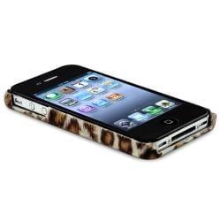 Purple Leopard/ Brown Leopard Case for Apple iPhone 4/ 4S