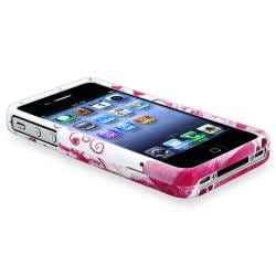 INSTEN Two-Piece Snap-On Heart Phone Case Cover Variety Set for Apple iPhone 4/ 4S