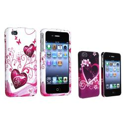 Snap-on Heart Case Variety Set for Apple iPhone 4/ 4S