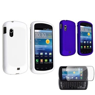 Blue/ White Case Set/ LCD Protector for Samsung Stratosphere i405
