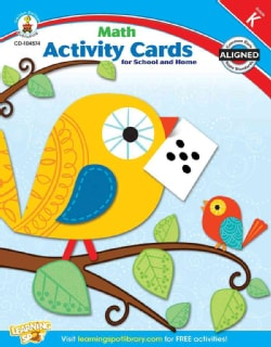 Math Activity Cards for School and Home, Kindergarten (Paperback)