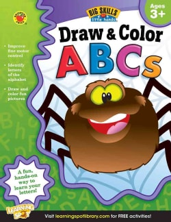 Draw & Color ABCs: Ages 3+ (Paperback)