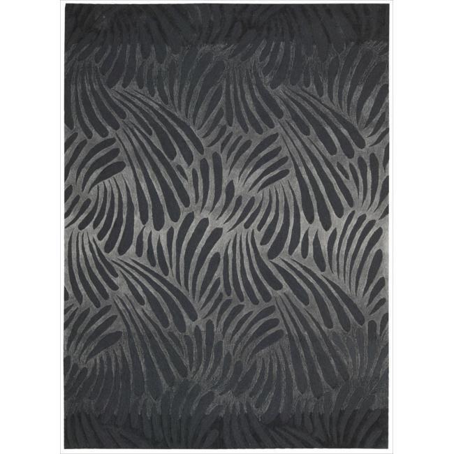 Nourison Hand-tufted Contours Charcoal Rug (5' x 7'6)