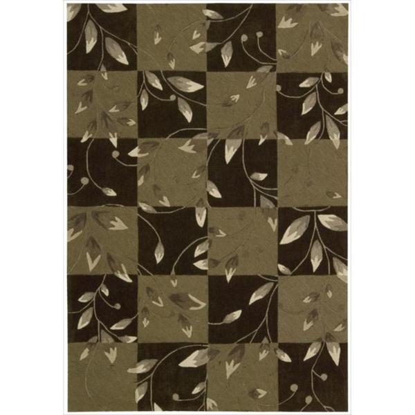 Nourison Hand-tufted Contours Vine Brown Rug (5' x 7'6)