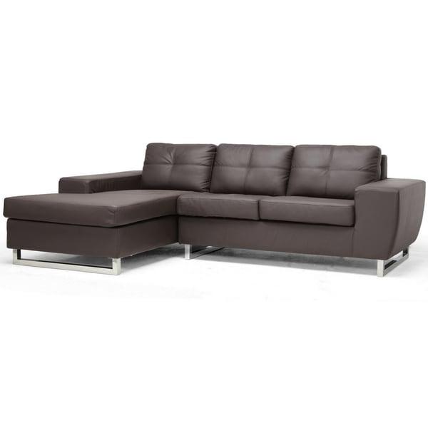 Corbin Brown Modern Sectional Sofa 14478973 Overstock