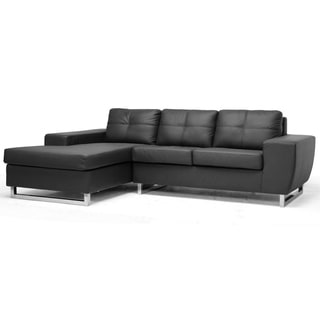 Corbin Black Modern Sectional Sofa