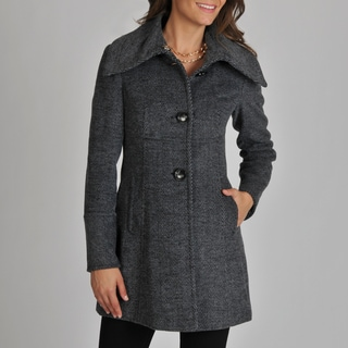 Ivanka Trump Women's Asymmetrical Herringbone Coat