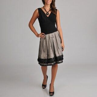 S.L. Fashions Women's ITY Top French Border Trim Dress