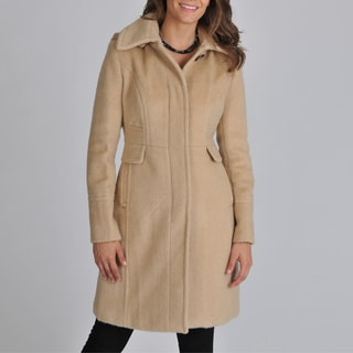 Ivanka Trump Women's Faux Alpaca Coat