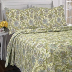 Rainforest Garden 3-Piece Quilt Set