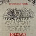 Art in Style 'Chateau Reynon' French Wine Label Decoupage On Burlap Art