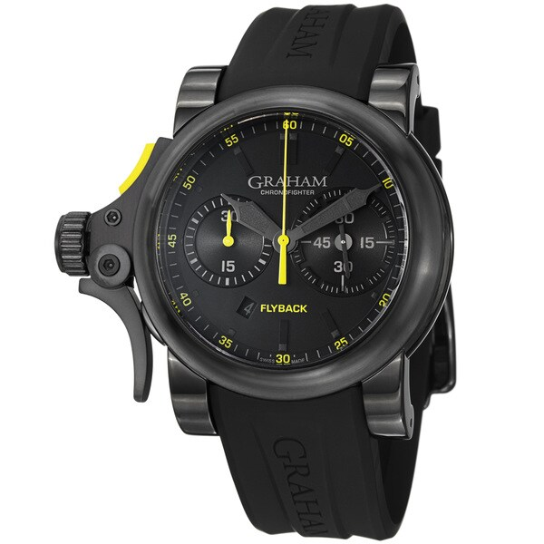 Graham Men's 2TRAB.B11A 'Chronofighter' Black Dial Chronograph Automatic Watch