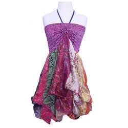 Women's Silk Bubble Dress (Nepal)