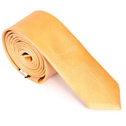 Skinny Tie Madness Men's Orange Skinny Tie