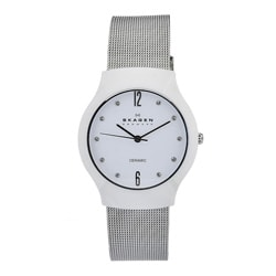 Skagen Women's Ceramic White Dial Watch