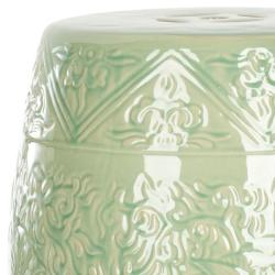 Safavieh Paradise Gardens Embossed Lime Green Ceramic Garden Stool