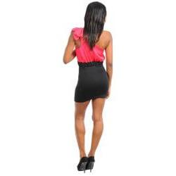 Stanzino Women's Single Strap Two-tone Mini Dress
