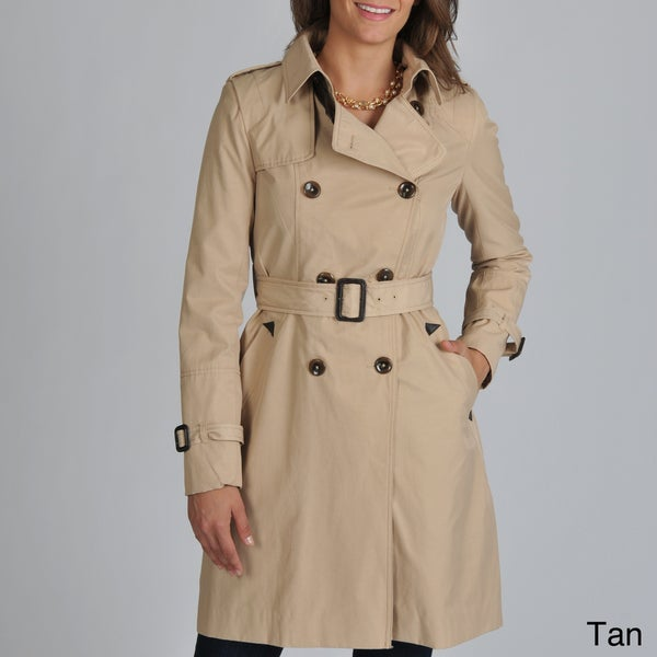 Vince Camuto Women's Belted Long Raincoat