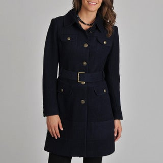 Vince Camuto Women's Navy Wool-blend Coat