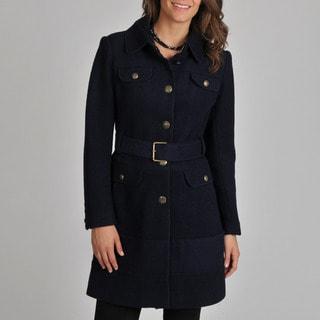 Vince Camuto Women's Navy Wool-blend Coat
