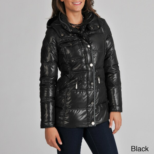 Vince Camuto Women's Down-filled Snap Front Jacket