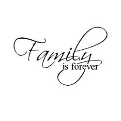 'Family is Forever' Vinyl Wart Art Decor Lettering