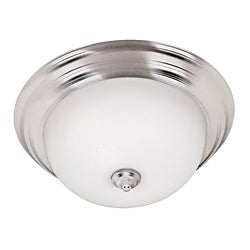 Jubilee 3 Light Brushed Steel Flush Mount