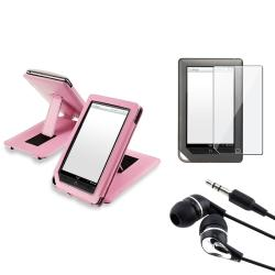 Leather Case/ Screen Protector/ Headset for Barnes & Noble Nook Tablet
