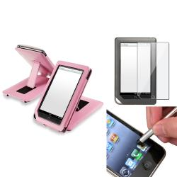 INSTEN Leather Phone Case Cover/ Screen Protector/ Stylus for Barnes & Noble Nook Tablet
