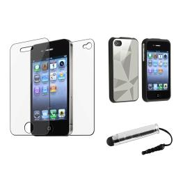 Silver Case/ Mini Stylus/ Protector for Apple iPhone 4/ 4S