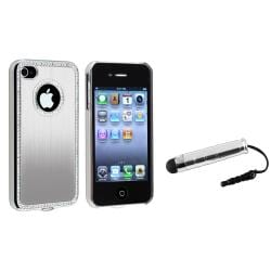 Silver Bling Case/ Mini Stylus for Apple iPhone 4/ 4S