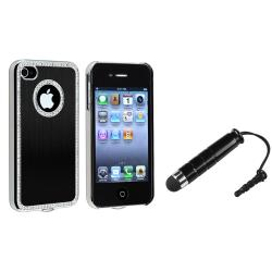 Black Bling Case/ Mini Stylus for Apple iPhone 4/ 4S