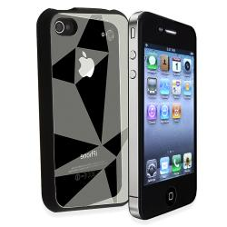 Silver Triangle Aluminum Case/ Mini Stylus for Apple iPhone 4/ 4S