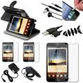 Case/Protector/Cable/Charger/Headset Bundle for Samsung Galaxy Note N7000