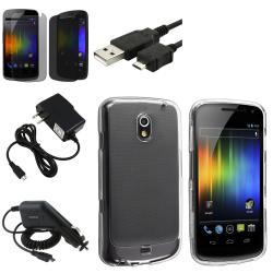 Clear Case/Protector/Cable/Chargers for Samsung Galaxy Nexus i9250 (Five-Piece Set)
