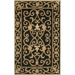 Safavieh Hand-hooked Chelsea Irongate Black Wool Rug (2'6 x 4')