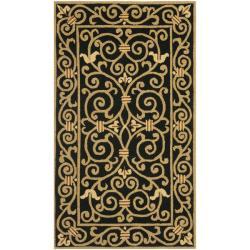 Hand-hooked Chelsea Irongate Black Wool Rug (2'9 x 4'9)