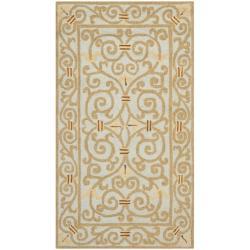 Safavieh Hand-hooked Chelsea Irongate Light Blue Wool Rug (2'9 x 4'9)