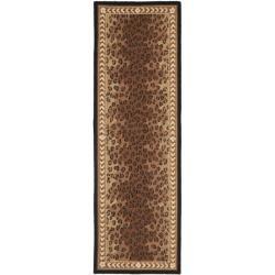 Safavieh Hand-hooked Chelsea Leopard Brown Wool Rug (2'6 x 10')
