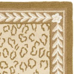 Safavieh Hand-hooked Chelsea Leopard Ivory Wool Rug (2'9 x 4'9)