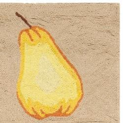 Safavieh Hand-hooked Fruit Panels Ivory Wool Rug (2'9 x 4'9)