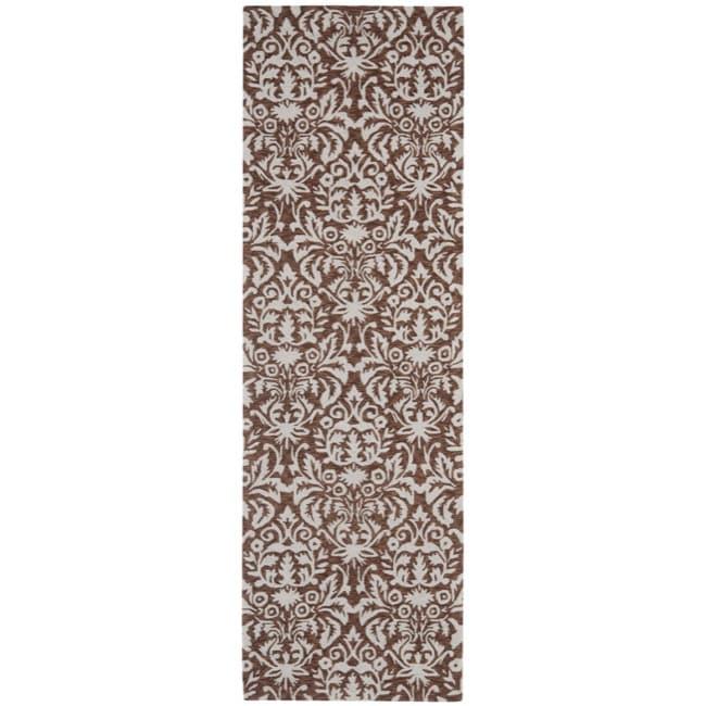 Safavieh Hand Hooked Chelsea Damask Brown Wool Rug 2 6 X