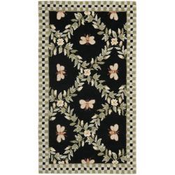 Safavieh Hand-hooked Bumblebee Black Wool Rug (2'6 x 4')