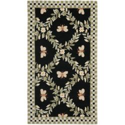 Safavieh Hand-hooked Bumblebee Black Wool Rug (2'9 x 4'9)