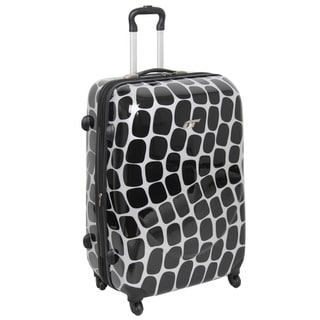 International Traveller Shiny Oval Wave 19-inch Hardside Carry-on Spinner Upright