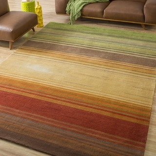 Nourison Hand tufted Contours Harvest Rug (3'6 x 5'6)