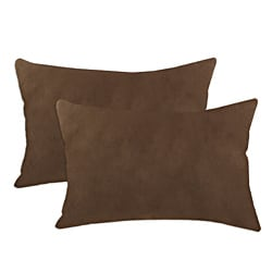 Victory Lane Chocolate Simply Soft S-backed 12.5x19 Fiber Pillows (Set of 2)