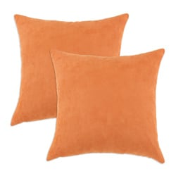 Slam Dunk Tangerine Simply Soft S-backed 17x17 Fiber Pillows (Set of 2)