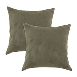 Slam Dunk Olive Simply Soft S-backed 17x17 Fiber Pillows (Set of 2)
